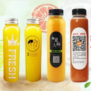 Hot Selling Customized shape Biodegradable Disposable Juice Plastic Bottle