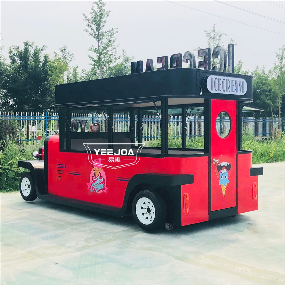Yeejoa unique design custom-sized multi-functional stationary bike prices stainless steel food truck trailer with factory price