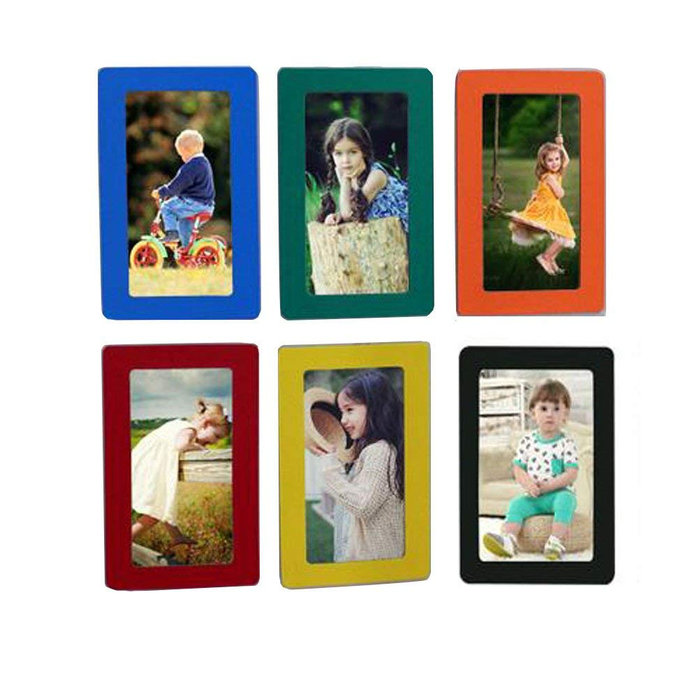 Colorful Fyore Magnetic Photo Frames Colorful Pocket Frame for Refrigerator Door Decor Memory Keepsake 4x6inch Pack of 6pcs