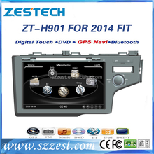ZESTECH wholesale OEM 2 din car dvd player for 2014 honda fit Car audio gps 2 din cheap with BT gps 3g TV radio