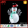 Color changing led light glass snowman figurine