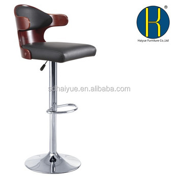 Admirable Bent Plywood Seat Bar Stool Chromed Gas Lift And Base Height Adjustable Bar Stool Hy2022H Buy Plywood Bar Stool Home Bar Stool Restaurant Furniture Evergreenethics Interior Chair Design Evergreenethicsorg