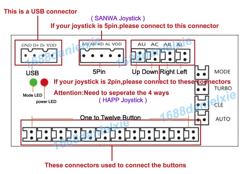 zero delay usb encoder to pc joystick for arcade diy kit. Black Bedroom Furniture Sets. Home Design Ideas