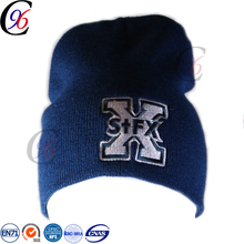 Chengxing wholesale top quality acrylic spandex customized jacquard knitting earflap with fleece lining mohawk knit hat