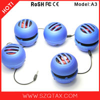 Amazon Bestseller 3W Universal Manual Portable Mini Speaker Factory, Audio Speaker For Travelling