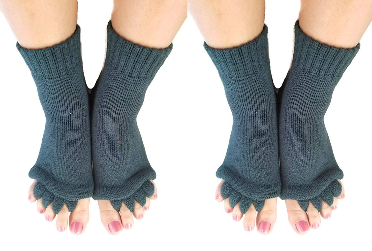 ddb817643ba9 Get Quotations · Comfy Toes Foot Alignment Socks Toe Spacer Relaxing  Comfort - Large   X-large