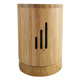 Simple life style bamboo housing ultrasonic soothing mist fragrance oil diffuser with changing LED light