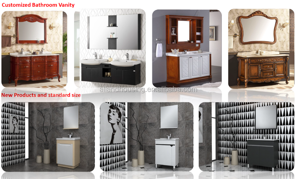 600 Europe style single bowl ceramic basin floating bathroom furniture with top quality
