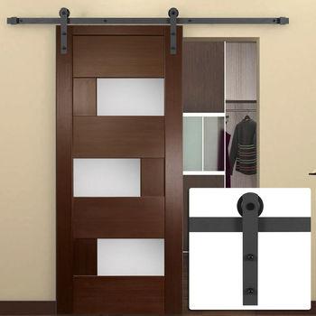 Hot Tempered Glass Sliding Barn Door For Bathroom Study Room
