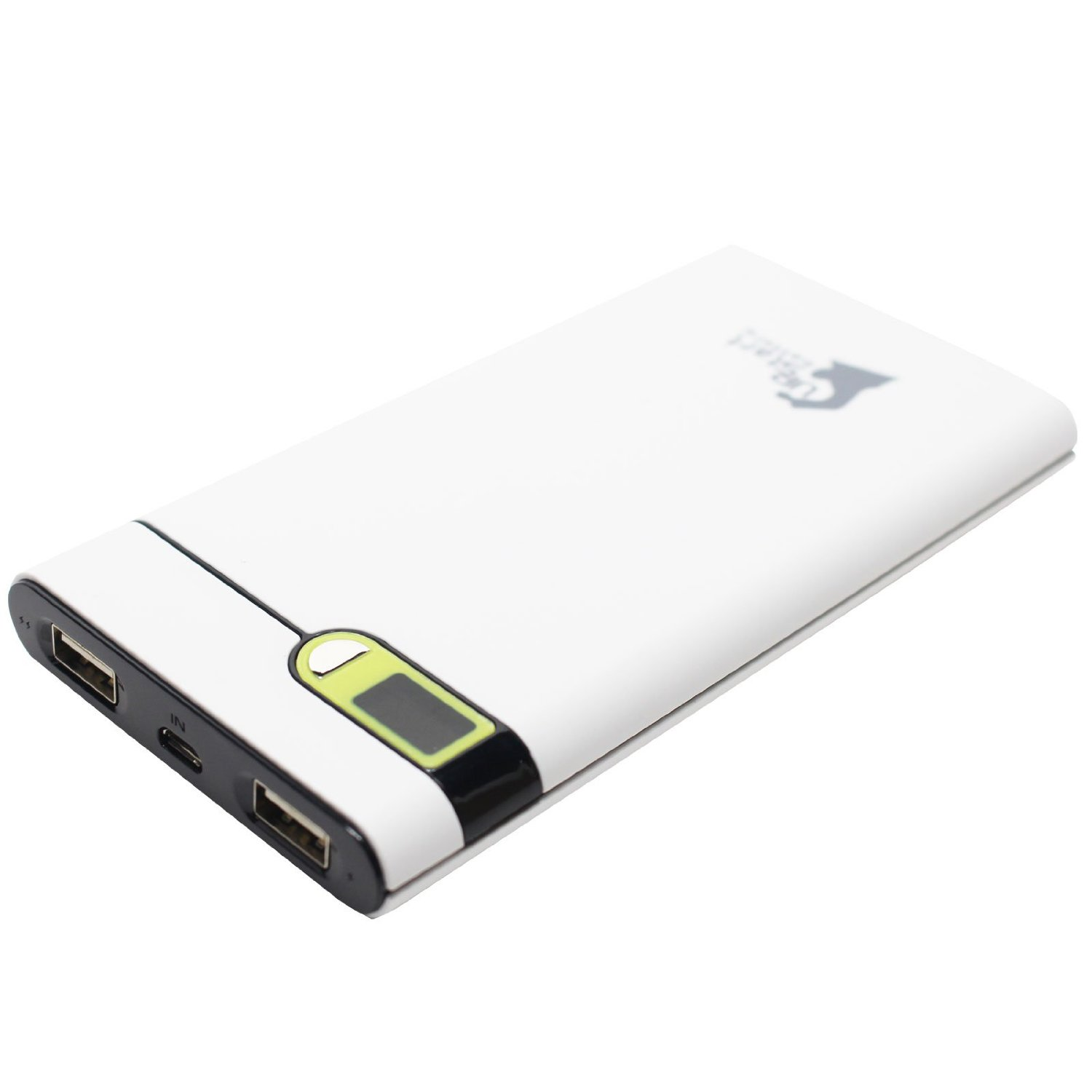 Samsung I8520 Halo Portable Charger - External Battery Pack (Dual USB Power Bank, 10000mAh, 1A & 2.1A Output)
