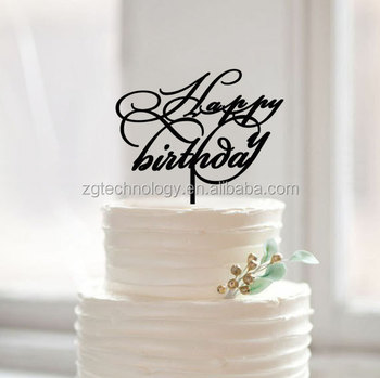 Happy Birthday Cake Topperscript Cake Topper With Happy Birthday - Words on cake for birthday