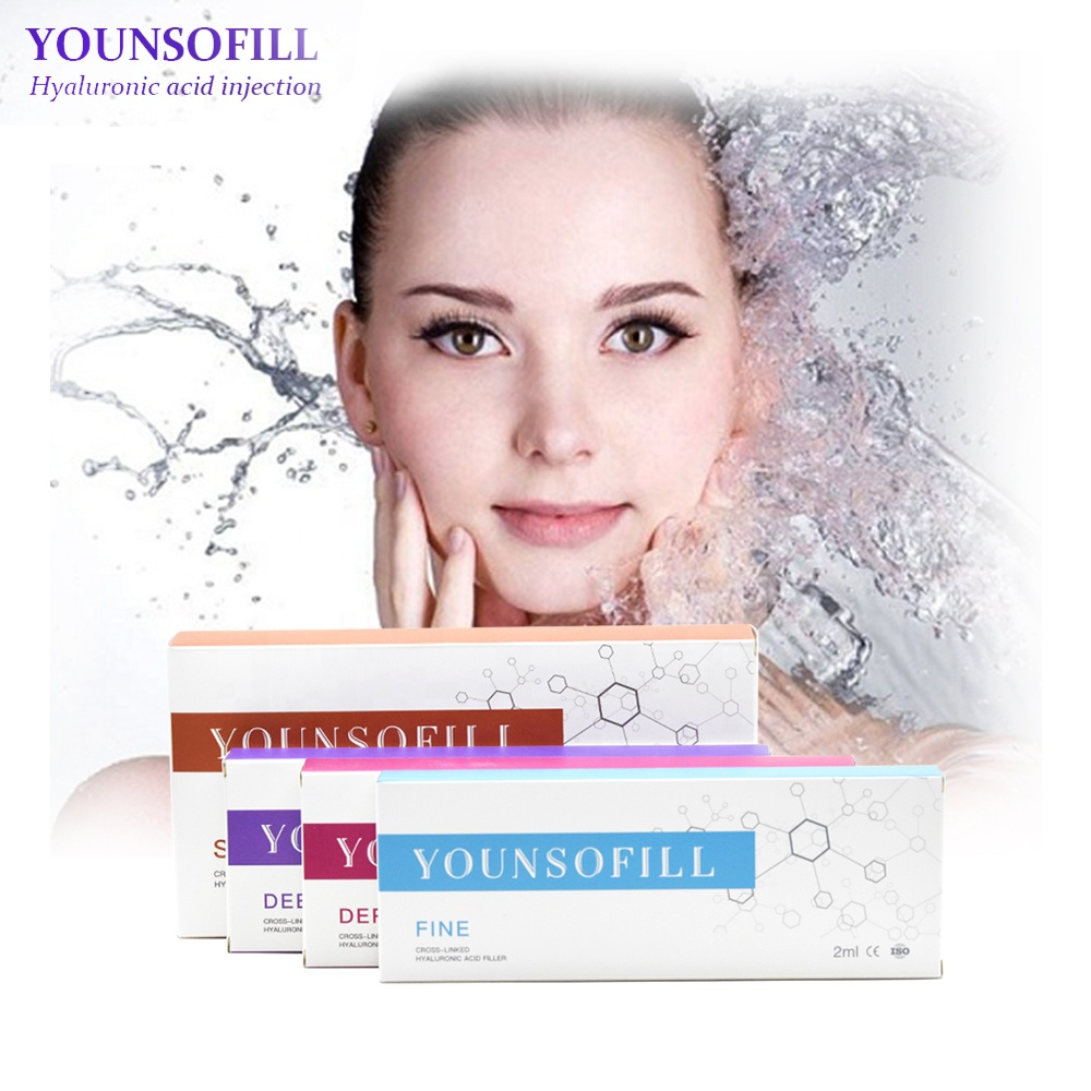 Younsofill CE collagen facial ha derma filler 1ml 2ml injectable hyaluronic acid dermal fillers