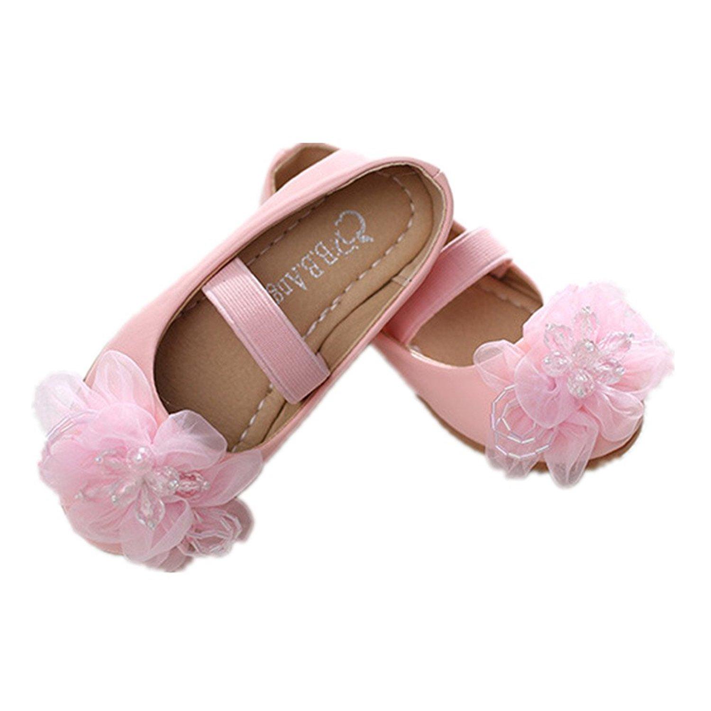 pit4tk Wedding Party Flower Girls Dress Shoes Bowknot Ballet Ballerina Flat Shoes