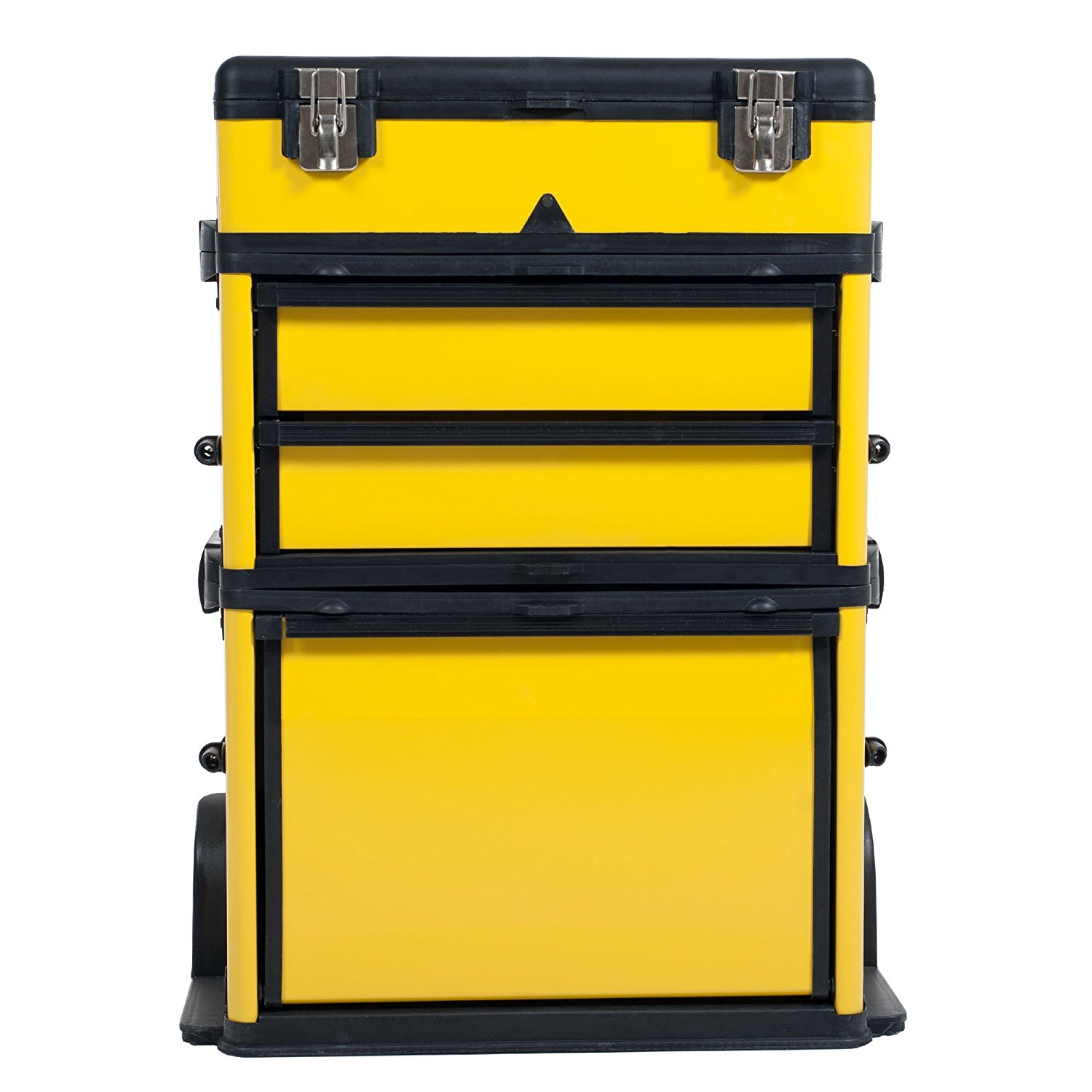 1e8edff3701 GD2096 23 Inch Tool Mobile Trolley Portable Tool Case Chest Two Castor Storage  Box Toolbox