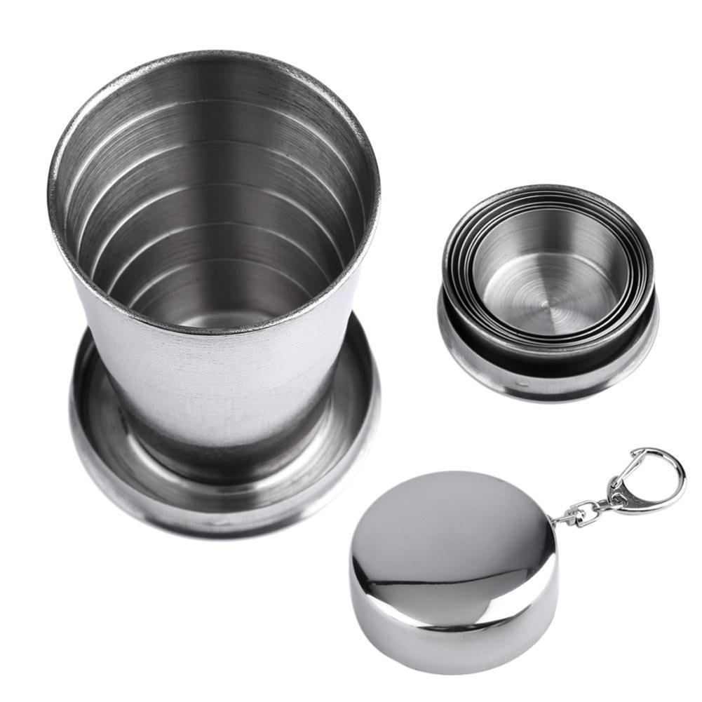 Cheap Steel Camping Mugs Find Deals On Line At Stainless Travel Collapsible Cup Get Quotations Snail Retractable Hiking For Outdoors Tableware Foldable