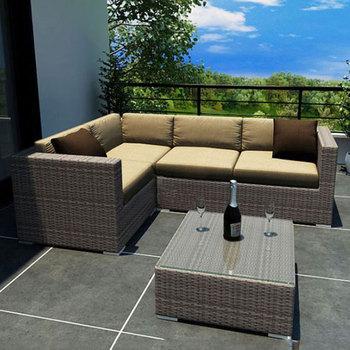 Philippine Rattan Luxury Sofas Outdoor Semi Circle Furniture Sofa Set