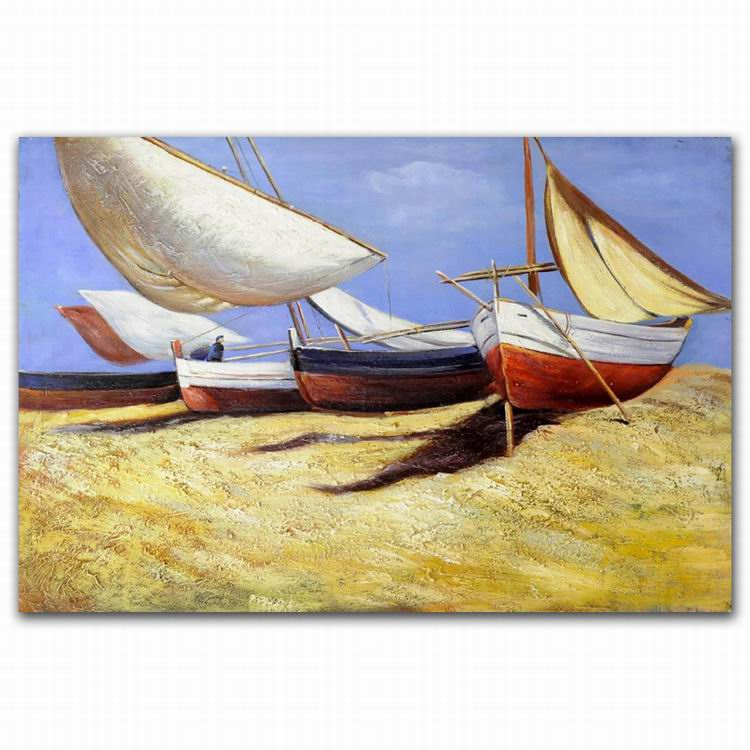High Quality Manufacturer Handmade Mediterranean Natural Scenery Oil Painting