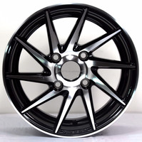 14 15 16 17 18 Inches Black Bright Car Surface Alloy Wheel Rims