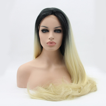 Top quality NEW LOOK ombre  synthetic nature straight  lace front wigs
