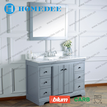 Single Bathroom Vanity Chinese Customized Solid Wood Classic Bathroom Cabinet