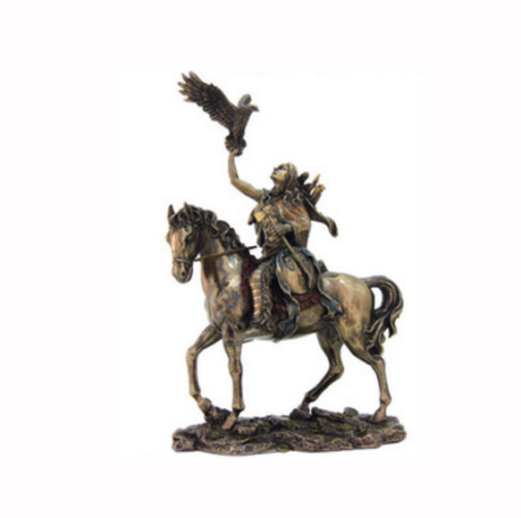 Custom factory- made intagliato a mano fashion polyresin statue in bronzo cavallo