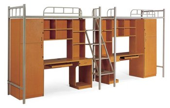 Moderne Treppe Bucherregal | Moderne Metall Etagenbett Mit Treppen Kleiderschrank Bucherregal Und