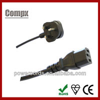 6A 10A 250V UK Power Cord BS flexible power cords