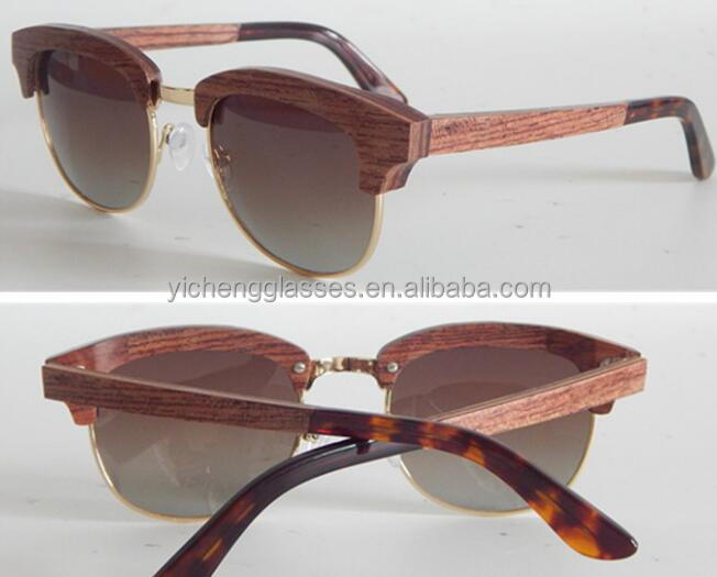 Small MOQ stock sunglasses stock bamboo wooden sunglases 2017