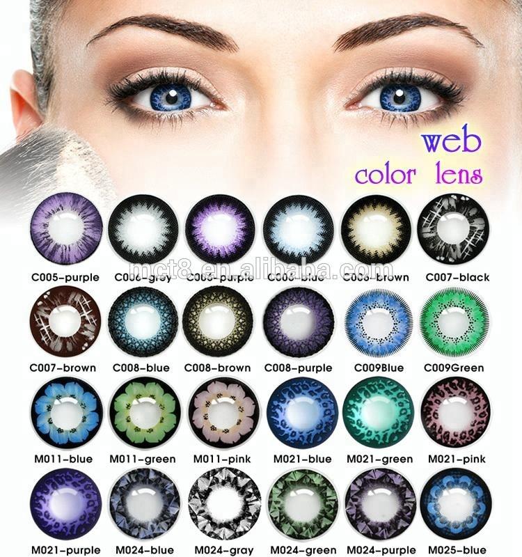 Fabrication pas cher lentilles de contact colorées lentilles