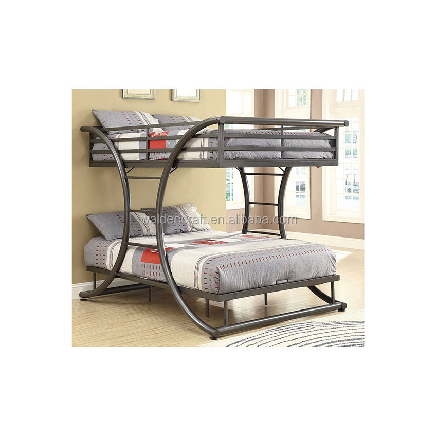 New fashion design metal gray bunk <strong>bed</strong> double size <strong>bed</strong>