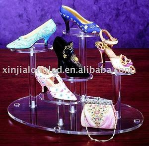 acrylic shoe exhibitor