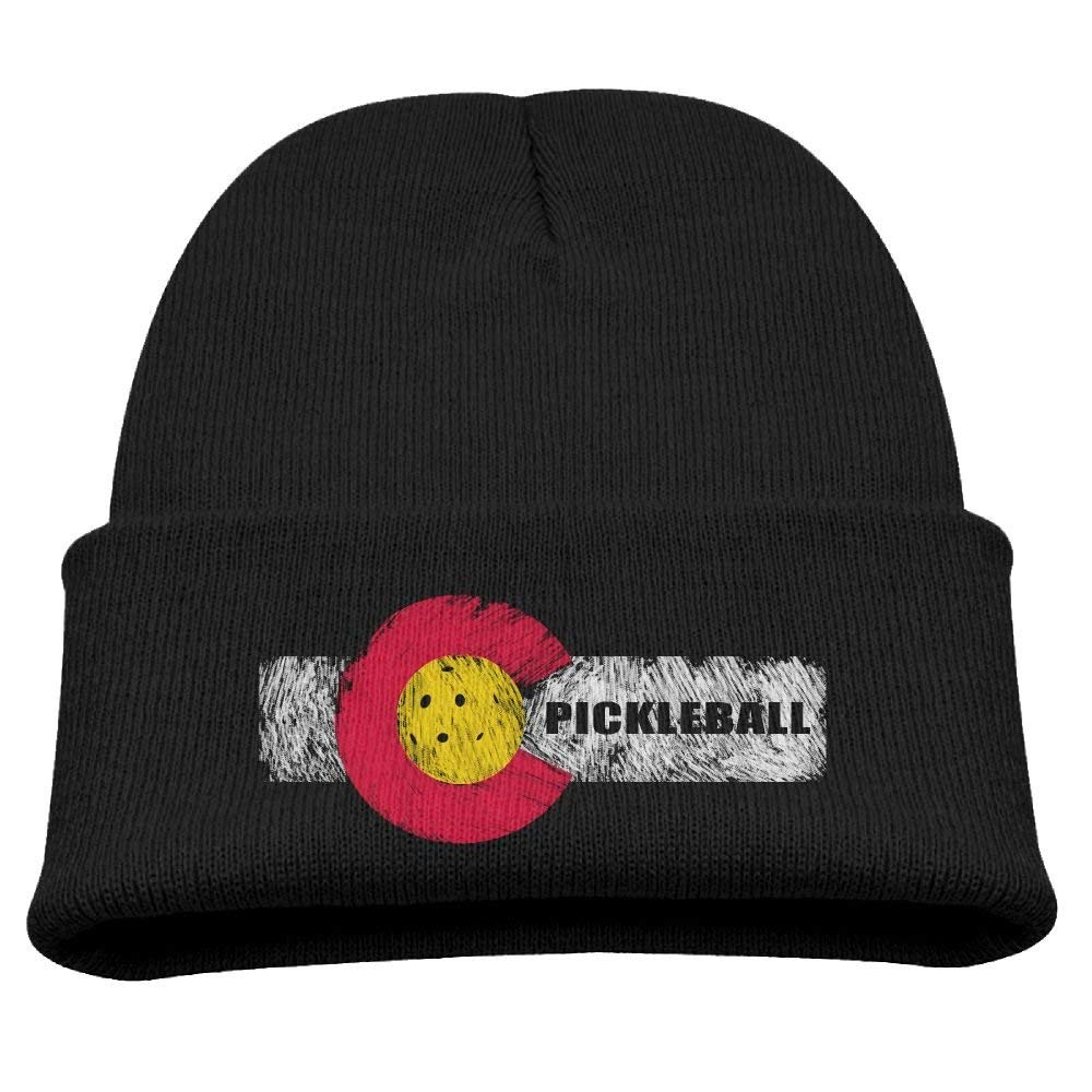 9def2b53591 Get Quotations · Rfysqc Wposg Colorado Flag Pickleball Sports Retro Boys  Girls Child Cute Knit Beanies Hats Watch Hats