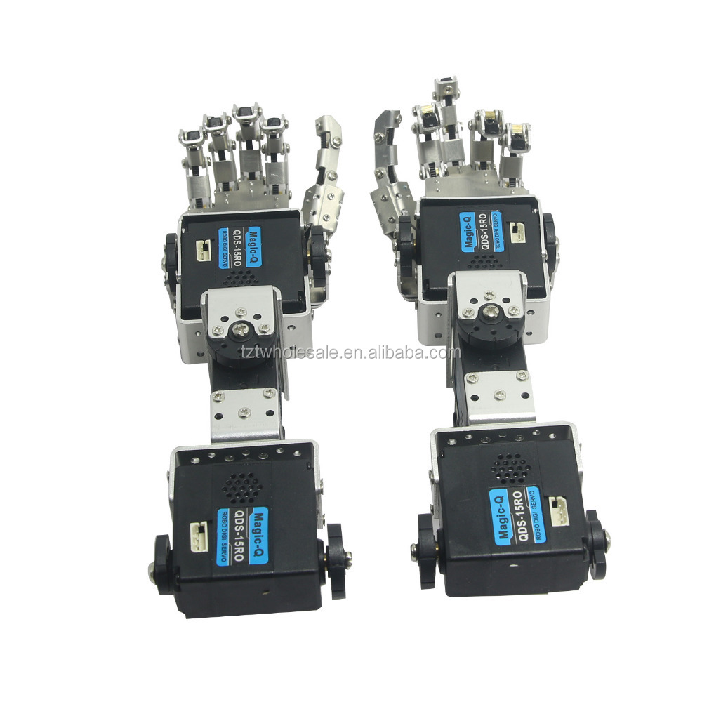 Humanoid Robot Left Hand Right Hand Arm With Fingers Manipulator & Servo  For Diy Robotics - Buy Industrial Robot Arm,Inflatable Arms With  Hands,Servo