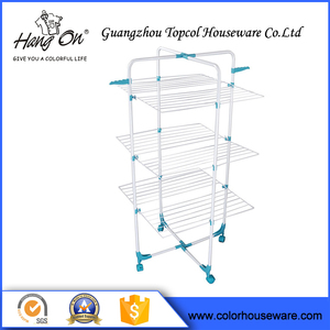 Good quality multifunctional foldable 30M Metal Tower Clothes Drying Rack
