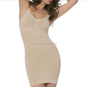 a54ba32c2 Fabulous Women Seamless Cami Slip Dress Shaper with built in bra and  underwire