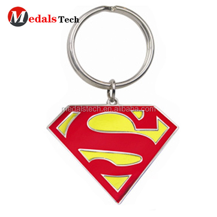 Wholesale cheap promotion nickle plated elephant shape custom metal keyring with high quality