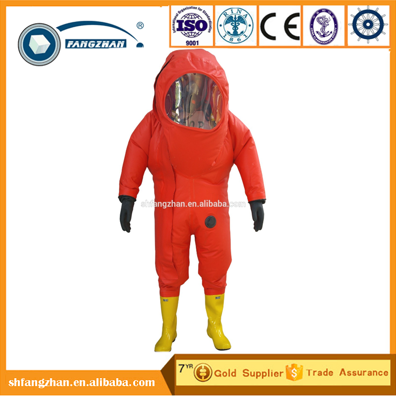 Fangzhan prime quality chemical protective suit for fireman with competitive price