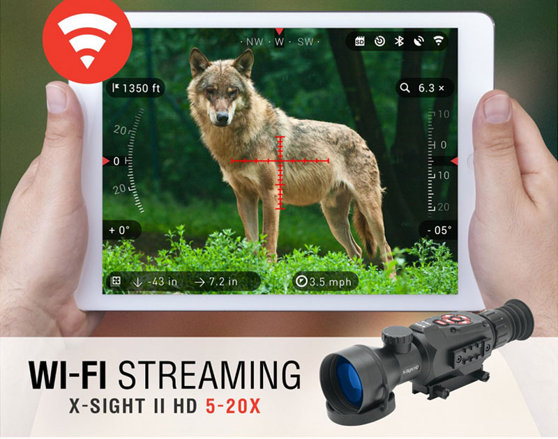 Hunting X-Sight II type 5-20x Riflescope Digital Night Vision Scope Effective Distance For Airgun