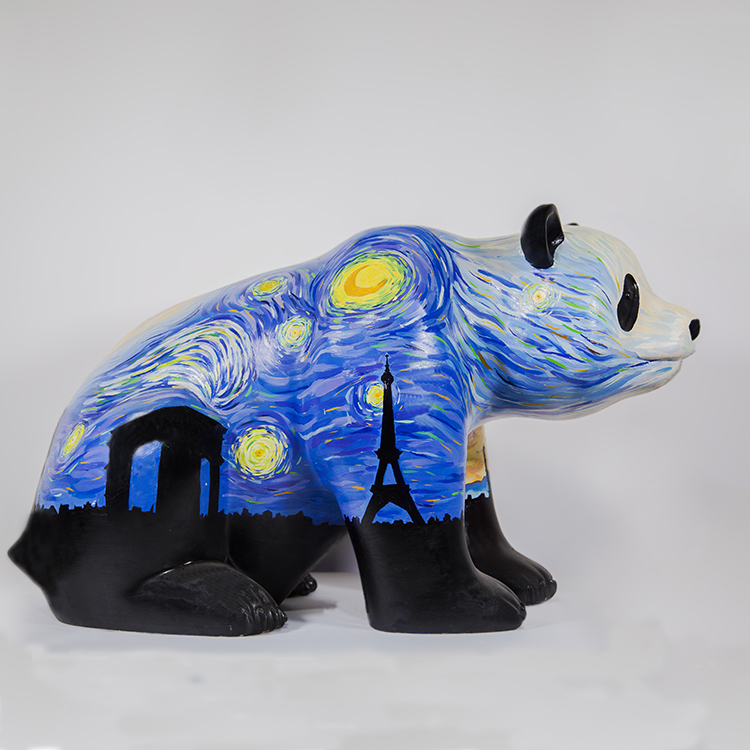 Top Grade Gifts Full Hand-painting Animal Folk Artificial Art Resin Craft for Collection