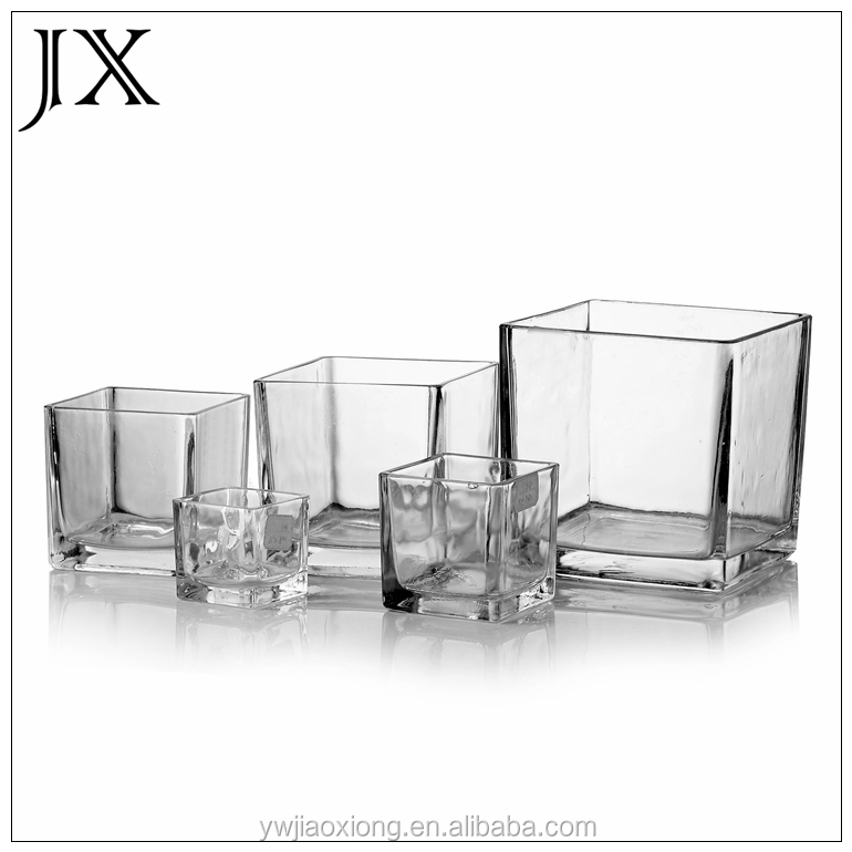 Carr clair table basse aquarium en verre carr vase en - Plaque de verre pour table basse ...