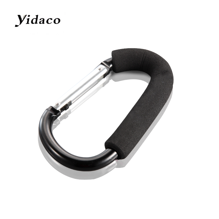 Customized high quality safety large aluminum stroller hook for hangers