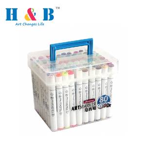 HB-MS-888 Online Shopping 216 colour alcohol paint marker pen set