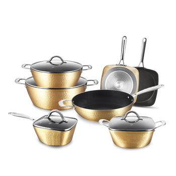 11 pcs Aluminum Nonstick Induction Copper Cookware