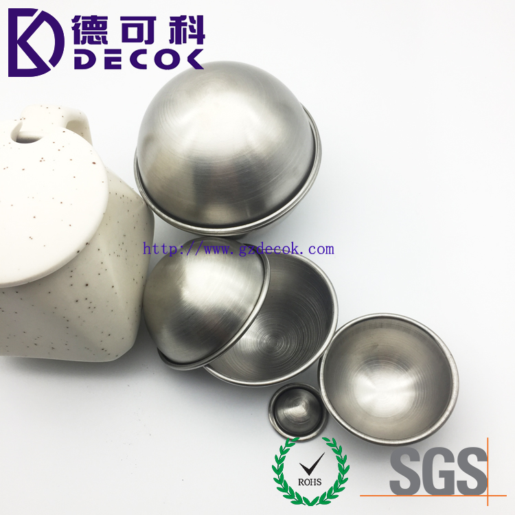 Custom DIY 85mm brushed surface metal stainless steel bath bomb mold