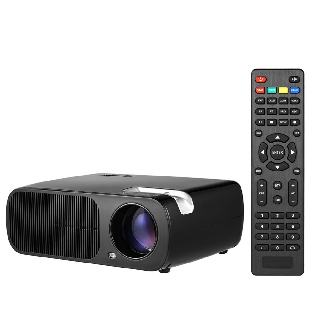 "LED Projector 1080P 200"" Home Theater Video Projector 2600 Lumens 800 * 480 Pixel 2000:1 Contrast Ratio with HD IN VGA AV USB Re"