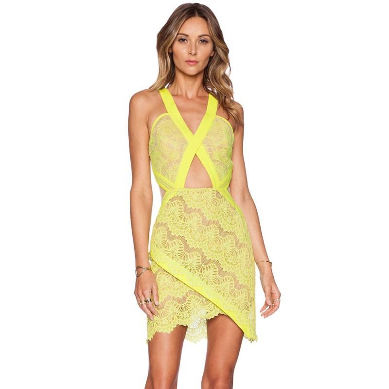 0988496e37d3b Cheap Long Yellow Lace Dress, find Long Yellow Lace Dress deals on ...