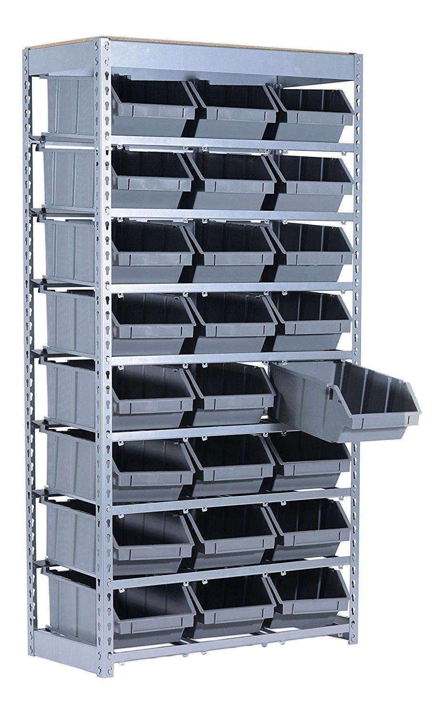 Get Quotations · RSM SR BIN 50 Pound Capacity Easy Set Up Steel 24 Bin