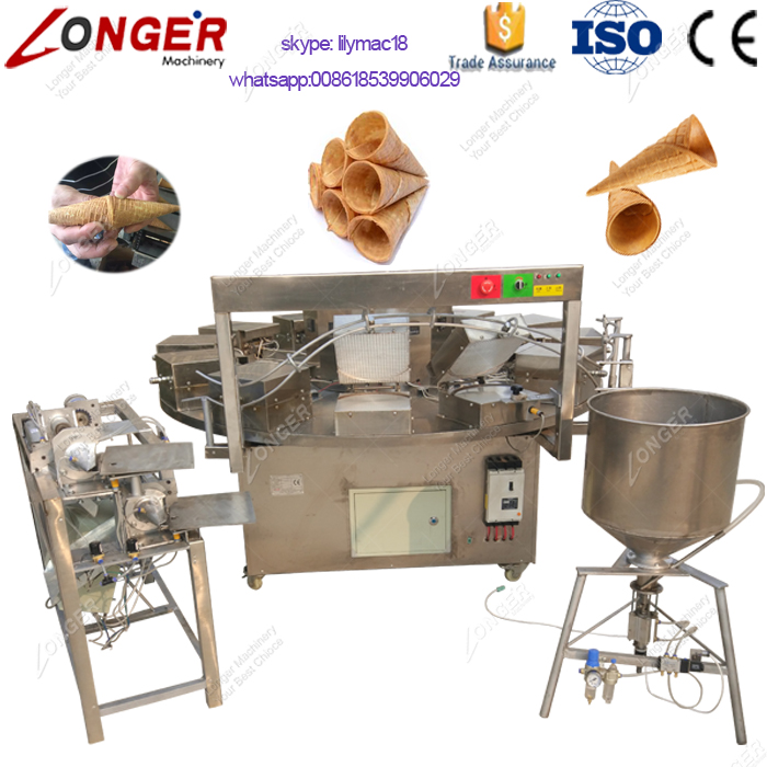 Factory Price Automatic Rolled Sugar Cones Baking Machine/ Ice Cream Cone Making Machine