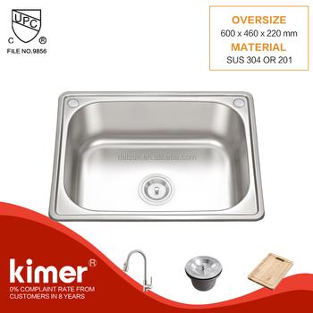 hot sale hand wash single stainless steel kitchen basin price in pakistan