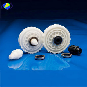 nylon with glass filled gears for injection molding